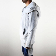 Winter Essentials Raw Edges Sleeve Cuffs Oversized Hood Long Sleeve Hoodie Extra Large Hood